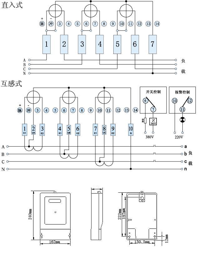 供应三相三线电子式预付费农灌电度表型号 tr-dssy314 .